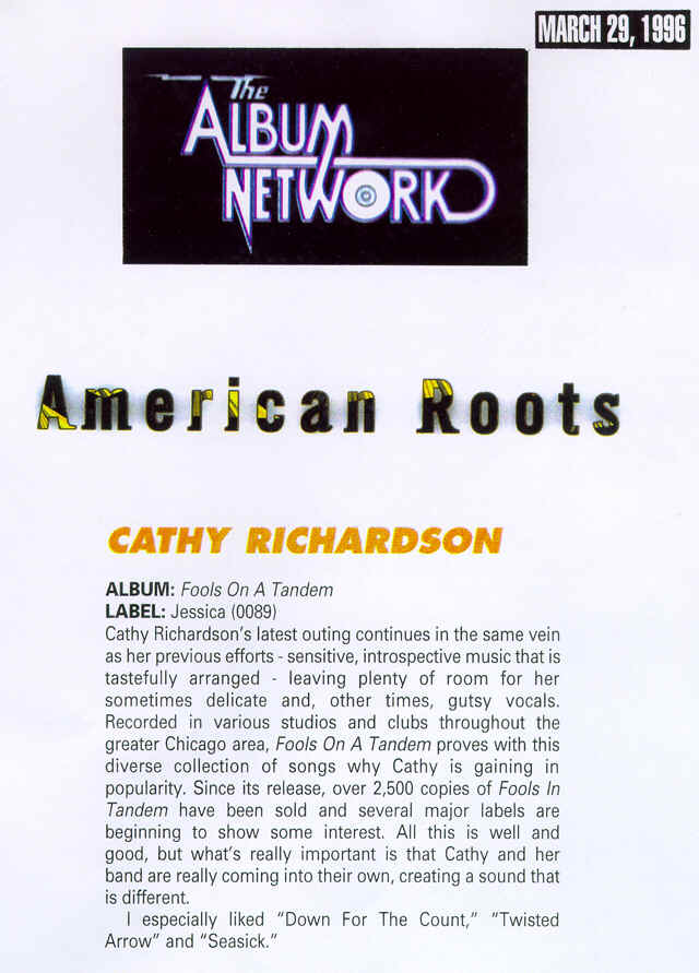 The Album Network, March 29, 1996