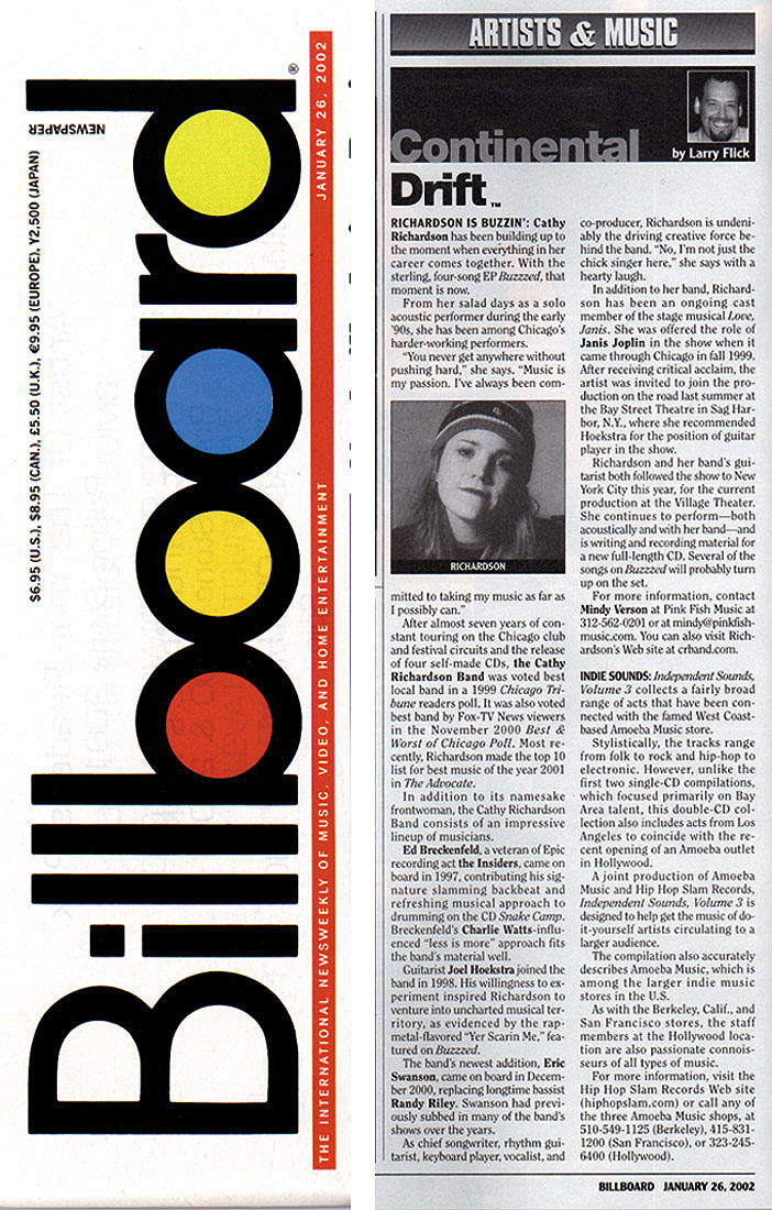 Billboard Magazine article
